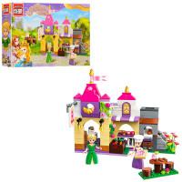 Конструктор BRICK 2603 (18шт) розовая серия, дом, фигурки,236дет, в кор-ке,32,5-22-6см