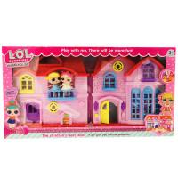 Кукольный дом 622A L.O.L. Surprise с куклами,мебелью.батар.муз.свет.кор.50*7,5*26 /24/