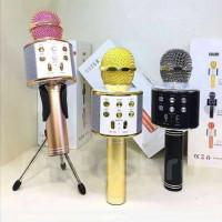 Микрофон WS858 (20шт) 23см,аккум, Bluetooth,TFслот,USBзар, 3цвета, в кор-ке, 9,5-25-8,5см