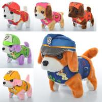 Собака MP 0205 (48шт) 16см, звук, ходит, 6видов, на бат-ке, в кульке