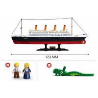 Конструктор SLUBAN M38-B0577 (6шт) Titanic, 651-280мм, фигурки, 1012дет, в кор-ке, 64-48-9см