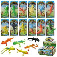 Животное 617 (1080шт) ящерица 8,5см, на листе, в кульке, 36шт(микс видов) в дисплее, 22,5-16-8,5см
