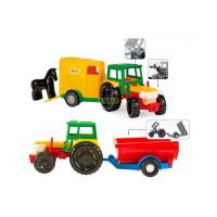 Трактор з причепом в коробці/39009