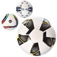 Мяч футбольный EV-3222 (30шт) размер 5, ПВХ 2,7мм, 32панели, 400-420г, 3 вида,