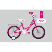 Велосипед детский PROF1 18д. Y1823-1 (1шт) Bloom,малиновый,звонок,доп.колеса