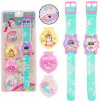 Детские наручные часы JD984 (480шт/4) 2 вида, на планшетке 11*2*26 см, р-р игрушки – 21.5 см