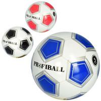 Мяч футбольный EV 3306 (30шт) размер 5, ПВХ 1,8мм, 32панели, 300-320г, 3цвета,в кульке