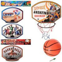 Баскетбольное кольцо MR 0127 (60шт) 32-25см, сетка, пластик.щит, мяч,микс вид, в кульке, 32-32-3см