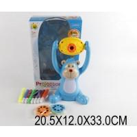 """Проектор 22088-9 (1364378) (24шт/2) """"Мишка"""",2 цвета,флом,сменные слайды,батар,свет,в кор.20,5*12*33с"""