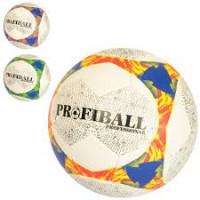 Мяч футбольный 2500-145 (30шт) размер 5, ПУ1,4мм, ручная работа, 32панели, 410-430г, 3цвета