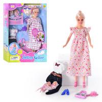 Кукла DEFA 8009 (36шт) беременная, с одеждой, 2 ре