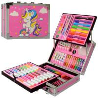 Набор для творчества MK 4618-2 (6шт) акв.краски, фломастеры, карандаши,мелки,в чемодане,27,5-21-9см