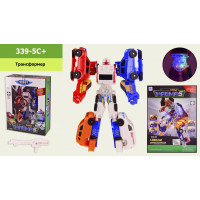 Трансформер  339-5C (24шт/2) mini MAGMA 5, свет, в кор. 26*10,5*35,5 см, р-р игрушки – 15*8.5*25 см