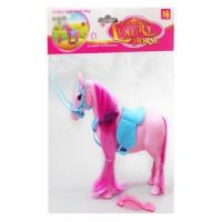 Лошадь 686-605 (96шт) 16см, расческа, 2 цвета, в кульке, 19-25-5см