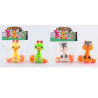 Заводная игрушка 1065-1065-1 (48шт) животное, 13см, ездит, 2вида по 2цвета, в кульке, 17-24-8см