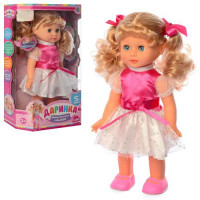 Кукла M 3883-1 S UA (16шт) Даринка,33см,муз-звук(укр),ходит,песня,на бат,в кор-ке,24,5-36-11см