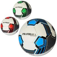 Мяч футбольный 2500-103 (30шт) размер 5, ПУ1,4мм, ручная работа, 32панели, 400-420г, 3цв, в кульке