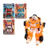 Трансформер 5811-13 (60шт) TBT, робот+машинка, 14см, оружие, 4вида,  на листе