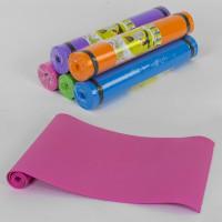 Коврик для йоги С 36548 (25) 4 цвета, толщина 6 мм, 178х59х0,5 см [Пленка]
