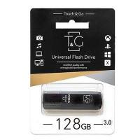 Флешка USB T&G 121 Vega серiя 128GB Black 3.0 USB
