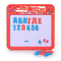 Досточка 0185 UK (108шт) магнитная азбука мал, 2 в 1, русский, украинский алфавит, 25-24см