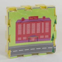 Коврик-пазл EVA С 36630 Город (20) 9 шт в упаковке, 30х30 см [Пленка]