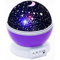 Ночник проектор звездного неба шар Star Master Dream голубой