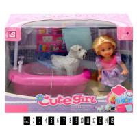 Лялька у ванній кімнатіі (коробка) К899-16 р.22,2х9,2х16 см.