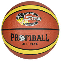 Мяч баскетбольный EV 8801-1 (30шт) 12панелей, резина, 580-600г, в кор-ке