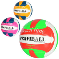 Мяч волейбольный 1115 (30шт) официальный размер, ПУ, 2мм, ручн,работа, 260-280г, 3цв,в куль,1цв в ящ