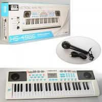 Синтезатор HS4966-68B (6шт) 49клавиш,микрофон,USBзарядное,МР3,на бат-ке,2 вида,в кор,71-26-9см