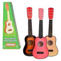 Гитара M 1370 (20шт) струны, запасная струна, медиатор, 3 цвета, 53-20-6,5см