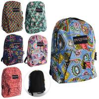 Рюкзак MK 0810 (36шт) размер большой,1отд. и карман с застежкой-молнией,6видов,в кульке,41-31-10см
