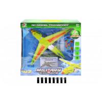 Літак (радіокерування, озвуч. зі світлом, коробка) 801A