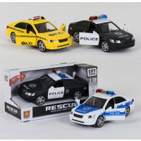 Машинка WY560ABC (18шт) 24см, откр.двери, зв,св,3вида(такси, 2в-полиция), бат(таб), в кор,28-15-12см