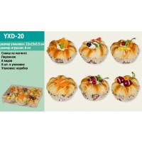 Антистресс YXD-20 (1724468) (100уп по 6шт) пирожное, 6 видов, на магните, в коробке 22*5,5*15 см/цен