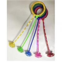 Нейроскакалка скакалка MS 3253-2 (100шт) светящаяся  на одну ногу, 63см, толщина1см,4цв,
