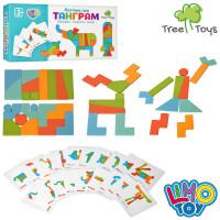 Деревянная игрушка Пазлы MD 2447 (40шт) карточки, в кор-ке, 23,5-11-4см