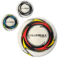 Мяч футбольный 2500-12ABC (30шт) размер5,ПУ1,4мм,4слоя,32панели,400-420г,3цвета