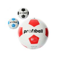 Мяч футбольный VA 0014 (30шт) размер 5, резина, гладкий, 400г, Profiball, сетка, в кульке, 3цвета