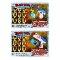 Пистолет RD8815-16 (12шт) 22см,водяные пули,пули-присоски,мишень,2вида(1в-зв,св),в кор