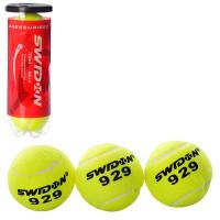 Теннисные мячи MS 1178 (40шт) 3шт, 6,5см, 1 сорт, 40% натур шерсть,трениров, в колбе,21-7,5-7,5см